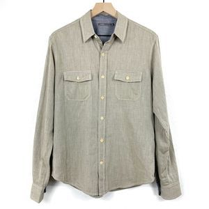 Vince Olive Green Long Sleeve Button Up Shirt
